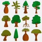 Bäume der Weltfarbikonen stellten für Netz und bewegliches Design ein Stockfotos