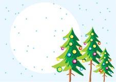 Bäume des neuen Jahres Stockfotografie