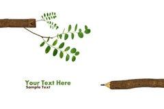 Bäume, die auf einem Bleistift nach der globalen Erwärmung wachsen Lizenzfreies Stockfoto