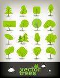 Bäume eingestellt Stockbilder