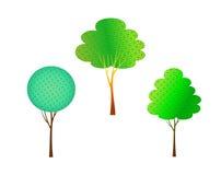 Bäume eingestellt auf Weiß Lizenzfreie Stockfotos