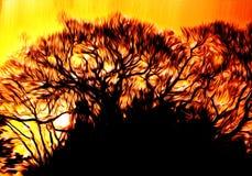 Bäume am Ende eines Tages stock abbildung