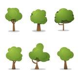Bäume für Spieldesign Stockbild