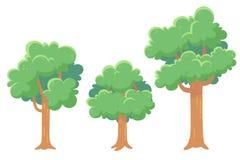 Bäume für Spiele und Animationen Lizenzfreie Stockfotografie