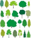Bäume - Karikaturset. lizenzfreie abbildung