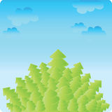 Bäume mit Himmel Stockfoto