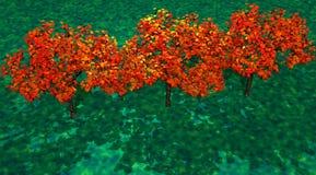 Bäume orange lizenzfreie abbildung