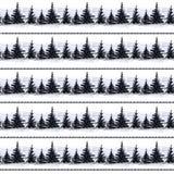 Bäume und Berge in den Streifen Lizenzfreies Stockbild