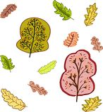Bäume und Blätter Lizenzfreie Stockbilder