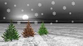 Bäume und Schnee stock abbildung