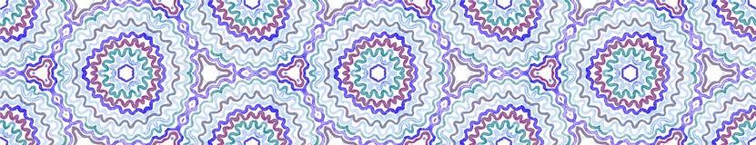 Błękitna Bezszwowa Rabatowa ślimacznica Geometryczna akwarela ilustracji