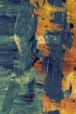 Błękitna biała pomarańczowa farba na abstrakt ścianie ilustracja wektor