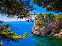 Błękitne wody Dubrovnik, Chorwacja fotografia royalty free