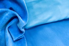 Błękitni knitwear welury obrazy royalty free