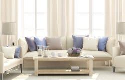 błękitny żywy pokój obrazy royalty free