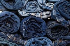błękitny tło cajg cajg błękitny drelichowa tekstura zdjęcie stock