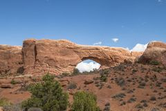 Bågar nationalpark Utah USA royaltyfri bild