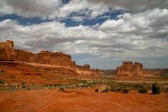 Bågar nationalpark, Utah, vårdag Royaltyfri Bild