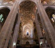 Bågar och organ av den Segovia domkyrkan fotografering för bildbyråer