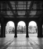 Bågarna av Centrals Park Bethesda Terrace Arkivbilder