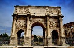 Båge av Constantine i Rome Arkivbild