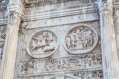 Båge av Constantine i Rome, Italien Royaltyfria Bilder