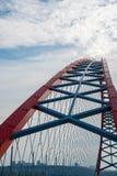Båge av den röda bron Arkivfoto