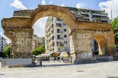Båge av Galerius på den Thessaloniki staden, Grekland arkivfoto