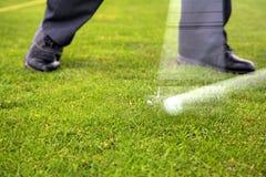 Båge av golfklubben arkivbilder