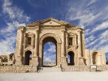 Båge av Hadrian, Jerash royaltyfri fotografi