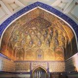 Båge av moskén i Uzbekistan Royaltyfria Foton