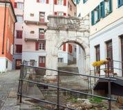 Båge av Richard, romerska monument, Trieste Royaltyfri Fotografi
