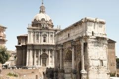 Båge av Septimius Severus Arkivfoto