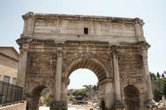 Båge av Septimius Severus Royaltyfri Foto