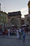 Båge av Sergien, Pula, Kroatien royaltyfri fotografi