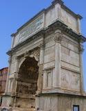Båge av Titus Roman Forum arkivbild