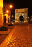 Båge av Trajan i Benevento, Italien Royaltyfria Foton