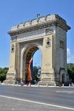 Båge av triumfen, Bucharest, Rumänien Arkivfoto