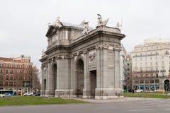 Båge av Triumph i Madrid Fotografering för Bildbyråer