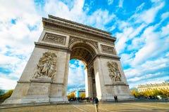 Båge av Triumph, Paris Arkivfoto