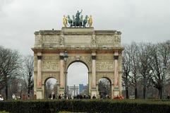 båge carrousel de du france paris triomphe Royaltyfri Bild