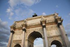 båge carrousel de du paris triomphe Royaltyfri Foto