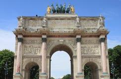 båge carrousel de du paris triomphe Arkivbild