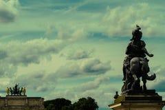 båge carrousel de du paris triomphe Royaltyfri Fotografi