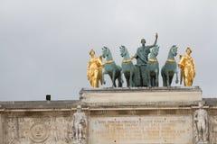 båge carrousel de du paris triomphe Arkivfoto