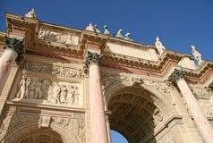 båge carrousel de du paris triomphe Royaltyfri Bild