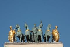 båge carrousel de du triomphe Royaltyfri Bild