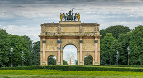 båge carrousel de du triomphe Fotografering för Bildbyråer