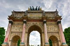 båge carrousel de du triomphe Royaltyfria Foton