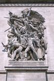 båge de staty triomphe royaltyfri fotografi